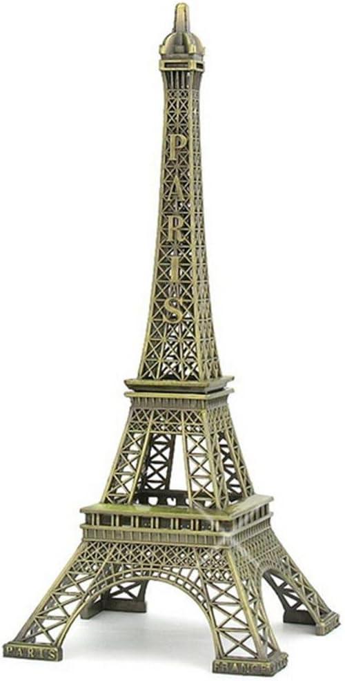 Metal Crafts Bronze Paris Eiffel Tower Figurine Statue Vintage Alloy Model Decor