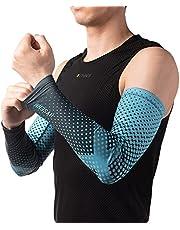 Ice-Silk Digital-Print Unisex armbeschermer UPF50 + UV-bescherming Compressie Armondersteuning Ademend Dri-fit hoes voor fietsen Basketbal en buiten- en binnensporten
