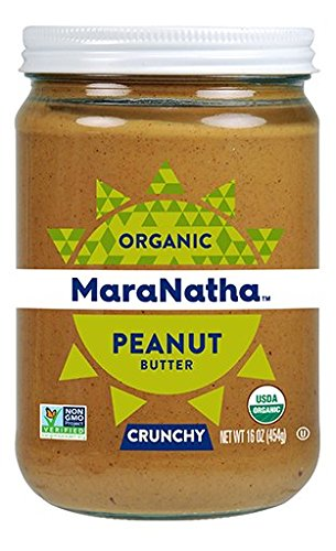 Maranatha Organic Crunchy No Stir Peanut Butter 16 oz Glass Jar - Single Pack
