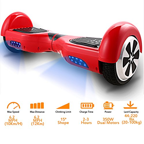 Coocheer Electric Hoverboard UL 6.5 inch Hover Board Led Smart Self Balancing Board Personal Transportation (Cheapest Electric Scooters)