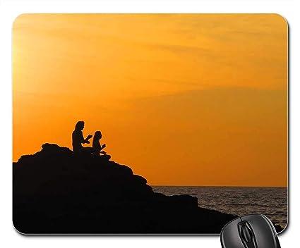 Amazon.com : Mouse Pads - Yoga Sunset Travel Goa India ...