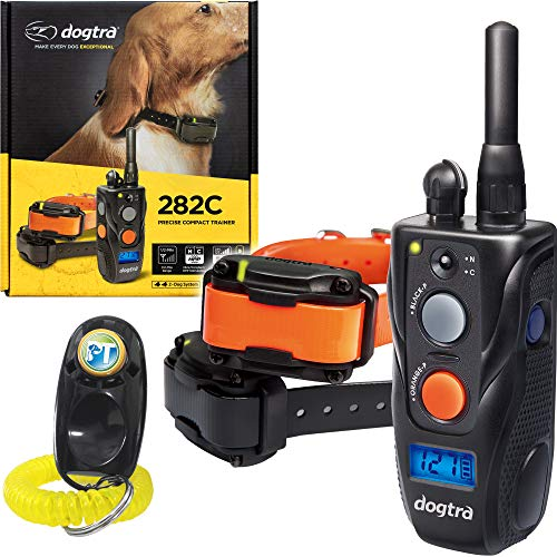 Dogtra 282C Two Dogs Remote Training Collar - 1/2 Mile Range, Waterproof, Rechargeable, Shock, Vibration - Includes PetsTEK Dog Training