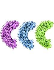 Gspirit 8 pz 4 Paia Duster Mop Pantofole Scarpe Copertura, Multi Funzione Ciniglia Fibra Lavabile Piano Pulizia Scarpe per Bagno Ufficio Cucina Casa Lucidatura Pulizia