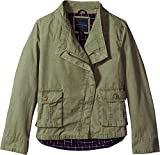 Tommy Hilfiger Big Girls' Cargo and Plaid Jacket, Sagier Green, Medium