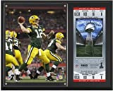 "Aaron Rodgers Green Bay Packers Super Bowl XLV Sublimated 12"" x 15"" Plaque with Replica Ticket - NFL Player Plaques and Collages"