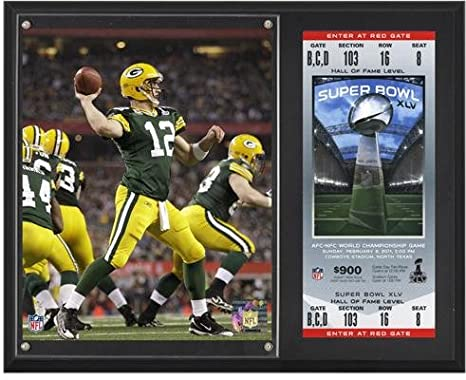 Aaron Rodgers Green Bay Packers Super Bowl XLV Sublimated 12 quot  x  15 quot  Plaque with f91053122