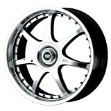 Motegi Racing FF7 Bright Silver Wheel With Clearcoat (18x7.5