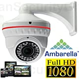 USG 1080P Sony 2.4MP IP Dome Security Camera + Wall Mount Bracket: 2.8-12mm Wide Angle Lens + Ambarella DSP + IR LEDs For 65 Feet Night Vision + IR-Cut + Outdoor & Indoor Rated + ONVIF