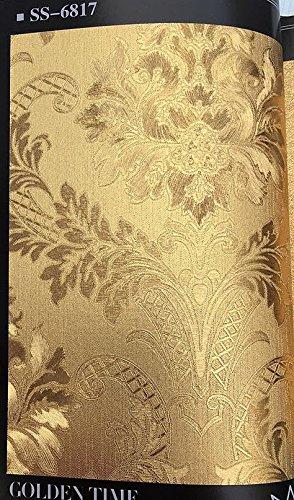 3D waterproof wallpaper gold foil luxury hotel ceiling decorative wall paper Buy three get one free ( Style : 6817 ) by Yo-Yo2015 (Image #1)