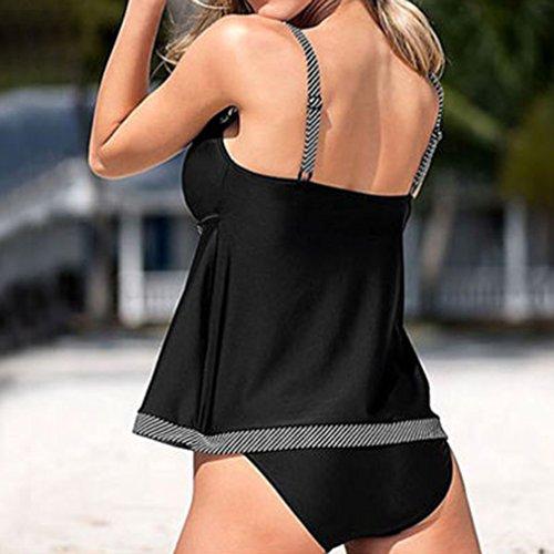 Tankini V 5XL Costume Da Donna Pezzi Plus Intero Donna Bagno Costumi Elegante Size Due S Collare C2 Adorabile Junkai Pantaloncini Optwqw