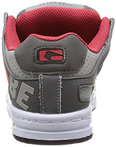 Global Eye Wear Tilt-Kids - Zapatos de piel para niños Charcoal/Red/White