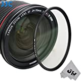 JW F-MCUV82 82mm Multi-coated UV Filter for Canon EF 24-70mm 16-35mm Nikon AF-S Nikkor 24-70mm Tamron SP 24-70mm Sigma 24-70mm +JW emall Micro Fiber Cleaning Cloth