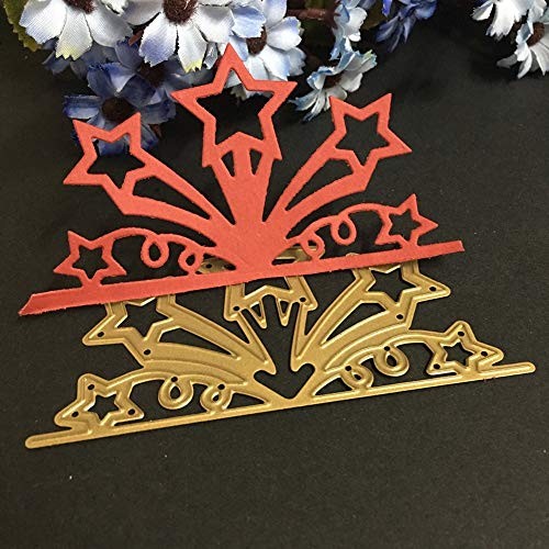 Craft Decoration - 2017 Golden Flower Star Diy Metal Cutting Dies Stencils Scrapbook Embossing Album Paper Card Craft - Halloween Assorted Accessories Stockings Kit Christmas For ()