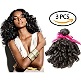 Armmu Funmi Curly Brazilian hair 9A Grade Spiral Curly 100% Unprocessed Virgin Human Hair 3 Bundles Remy Hair Extensions Weft Natural Black Color 101214 For Sale