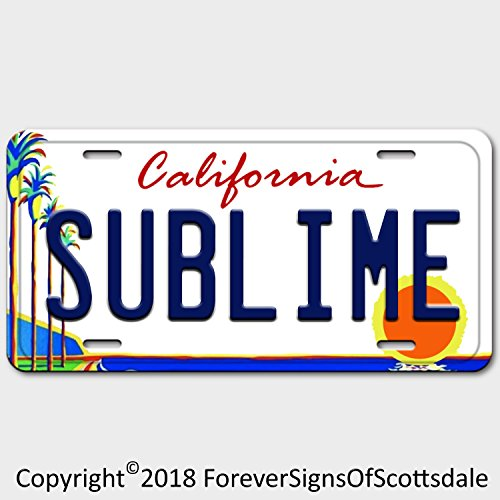 Forever Signs Of Scottsdale Sublime Punk Rock Band California Vanity Aluminum License Plate White