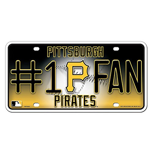 fan products of MLB Pittsburgh Pirates #1 Fan Metal Tag