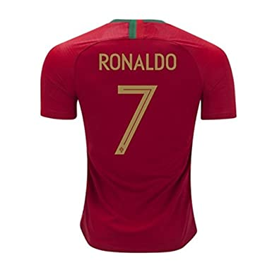 detailed look 9216b 3738c 7 C Ronaldo Jersey Portugal National Team 2018 World Cup Mens Soccer Jersey  Red Size S
