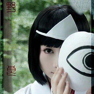 [QINF Noragami Nora Hiiro Black Short Cosplay Wig] (Noragami Nora Costume)