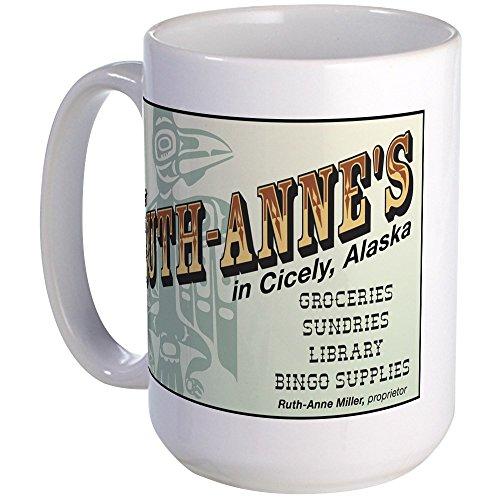 (CafePress - Ruth-Anne's Of Cicely, Alaska Large Mug - Coffee Mug, Large 15 oz. White Coffee Cup)