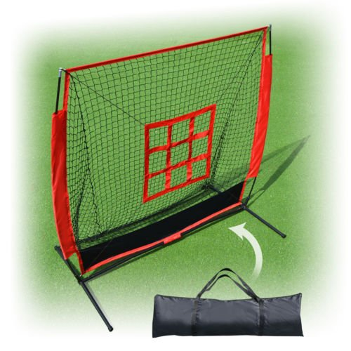 Strong Camel 5x5 Baseball & Softball Practice Net With Strike Zone Target And Carry Bag by Strong Camel