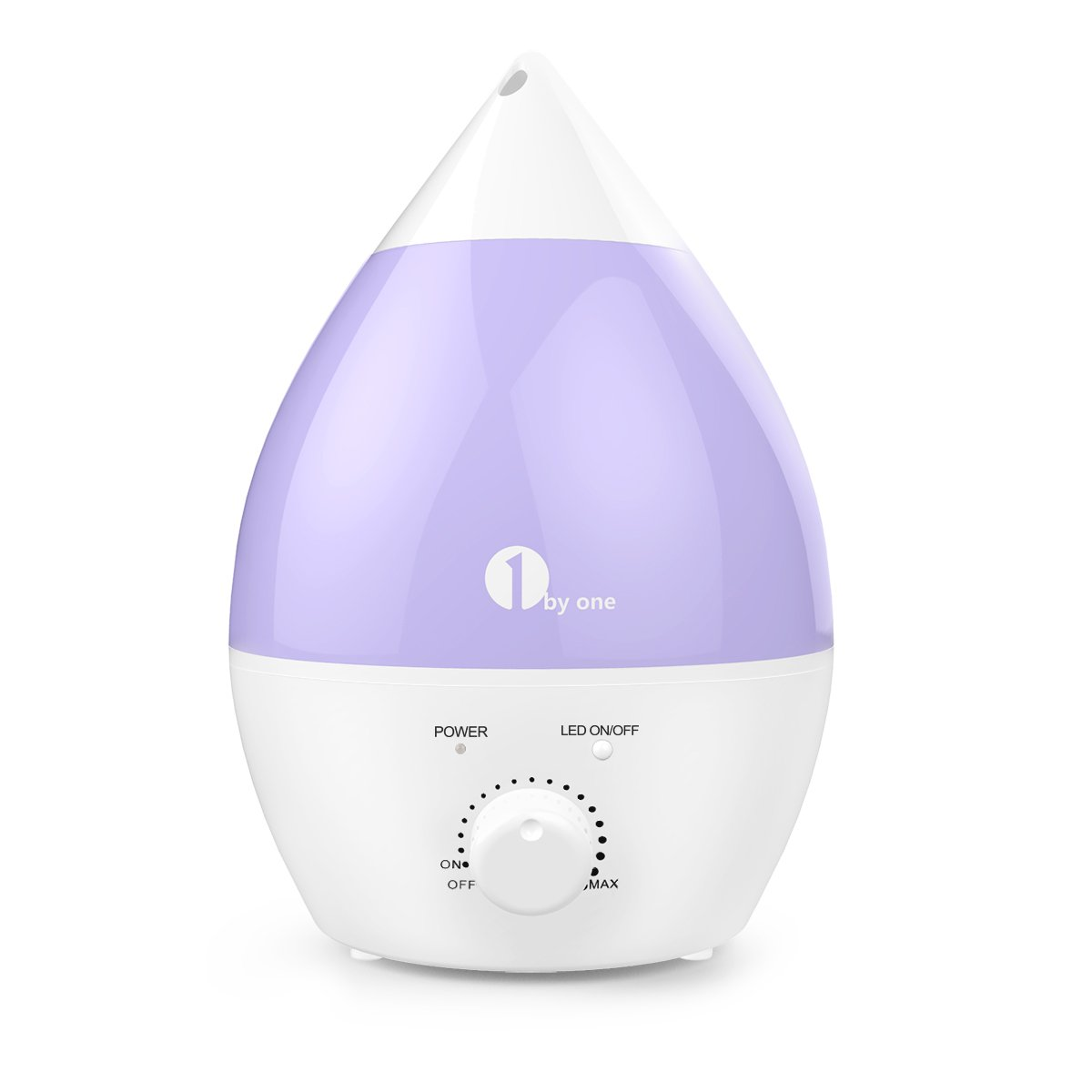 Cool Mist Humidifier, 1byone 2.8L/0.62Gal Ultrasonic Humidifiers with 20+ Hours Use, End for Dry Air, No Noise & 7 Color LED Night Lights with Automatic Shut-off Function for Home Baby Room Bedroom Office 1byone Products Inc.