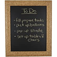 """Decorative Words 18"""" x 24"""" Chalk Board framed in 2-1/4"""" Faux Cork board finish wood frame, Sawtooth hanger is attached for easy hanging"""