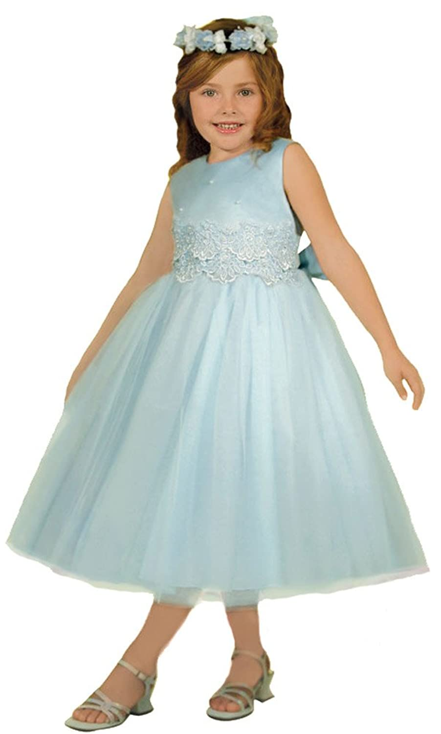 Amazon.com: KID Collection Girls\' Cinderella Tulle Flower Girl Dress ...