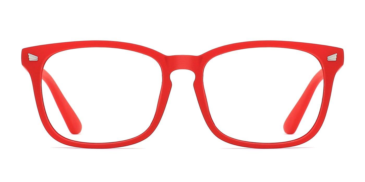 TIJN Unisex Stylish Square Non-prescription Eyeglasses Glasses Clear Lens Eyewear 00005008