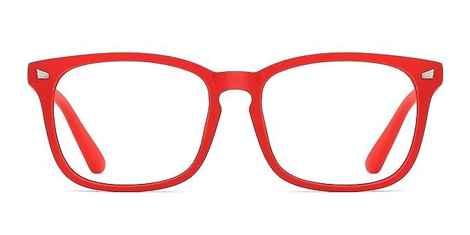 Gafas con marco transparente TIJN Wayfarer, sin receta médica, unisex
