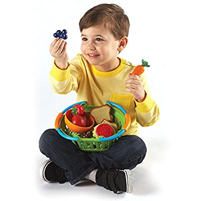 Learning Resources New Sprouts Healthy Lunch Toddler Pretend Play Food Set, Outdoor Toys, Pretend Picnic, 15 Pieces, Ages 2+: Toys & Games
