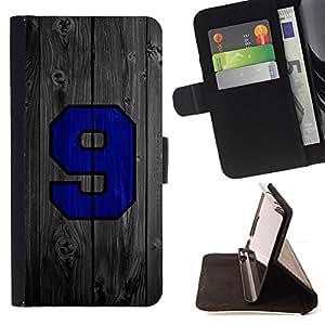 - 9 Wood Sports Team - - Prima caja de la PU billetera de cuero con ranuras para tarjetas, efectivo desmontable correa para l Funny HouseFOR Samsung Galaxy Core Prime