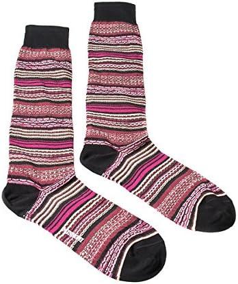 Missoni GM00CMU5236 0002 Pink//Wine Mixed Stripe Knee Length Socks for Womens