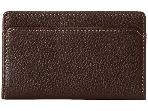 R Madison 115-2219 Tyler Tumbled RFID Rock Solid E-W Slim Card Case in Coffee ()