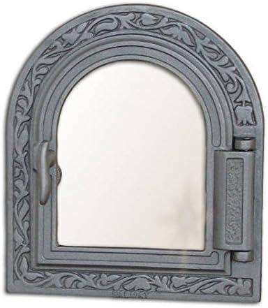 Estufa Puerta Horno de piedra para puerta del horno Puerta Madera Puerta Horno Parrilla de hierro fundido 365x 325
