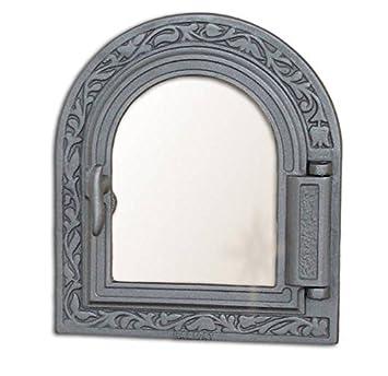 Estufa Puerta Horno de piedra para puerta del horno Puerta Madera Puerta Horno Parrilla de hierro fundido 365 x 325: Amazon.es: Jardín