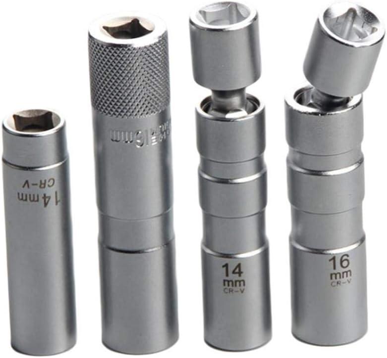 Presa Candela Magnetico Flessibile Chiave 14mm e 16 Millimetri Candela Chiave Universale Giunto Thinwall WJDHSG la rimozione di Strumento Candela per attaccare e staccare delle Maniche accensione