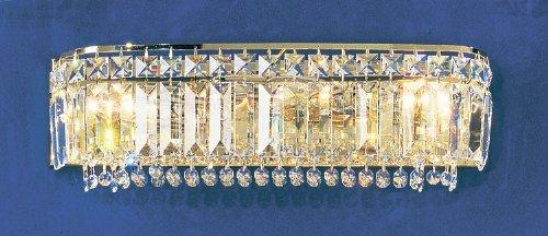Classic Lighting 1624 G SC Ambassador, Crystal, Vanity Lighting, 24k Gold Plate by Classic Lighting--DROPSHIP
