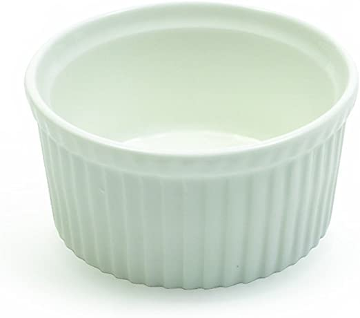 Souffle Dish White 8 Fitz and Floyd AA01025 White Basics Collection 8
