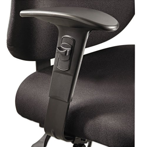 Height/Width-Adjustable T-Pad Arms for Alday 24/7 Task Chair, Black, 1 Pair, Sold as 1 Pair, 2 per Pair by Safco