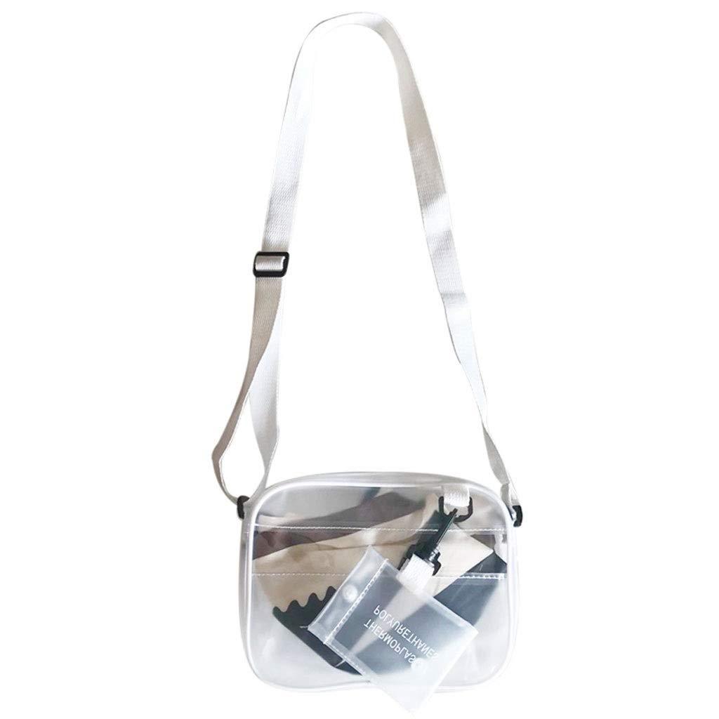 KnitsShop Mobile Phone Bag Transparent Bag Female New Summer Cute Mini Student Wild Messenger Bag Small Bag