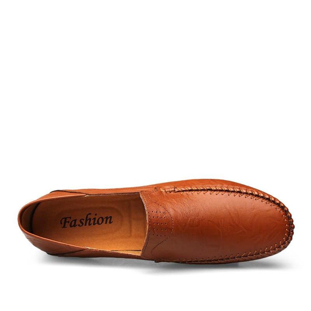Ying xinguang Herren Herren Herren Loafers Slip auf bequemen Mokassins Freizeit Stil Schuhe ROT Braun c05bce
