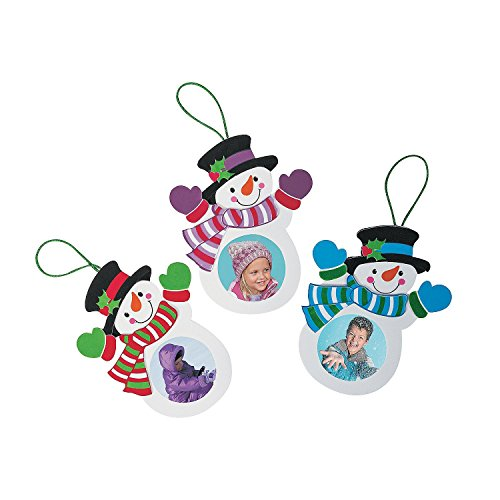 (SNOWMAN Christmas Ornament Picture Frame Craft Kits -- MAKES 12)
