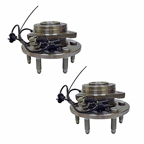 HU515096 x 2 (Set of 2) Brand New Wheel Bearing Hub Assembly Front Left And Right (6 Lug 4WD) Fit 07-14 Escalade Chevy Suburban 1500 TAHOE Yukon XL, 07-13 Avalanche (Front Wheel Hub Set)