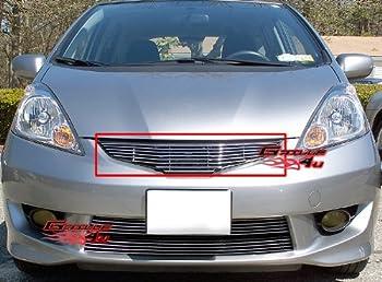 APS H66693A Polished Aluminum Billet Grille Bolt Over for select Honda Fit Models