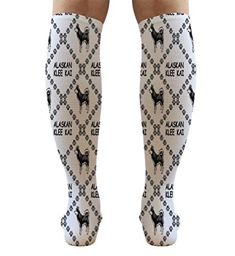 Funny Knee High Socks Alaskan Klee Kai Dog Paws Tube Women & Men 1 Size 6