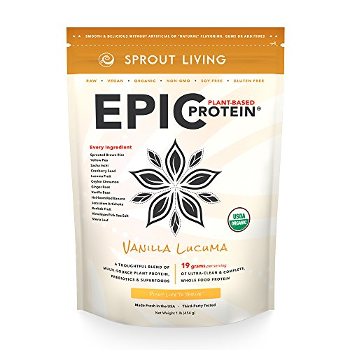 Sprout Living Epic Protein Powder Vanilla Lucuma 1 lb