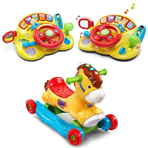 VTech 2-in-1 Rocking Horse & Ride-On Pony and Turn & Learn D