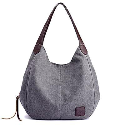 Alyssaa Women's Canvas Shoulder Handbags Ladies Casual Hobo Shopping Bags Cotton Totes Daily Purses