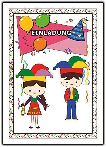 Schön Einladungskarten Karneval Fasching Kindergeburtstag Jungen Mädchen   10  Stück: Amazon.de: Bürobedarf U0026 Schreibwaren