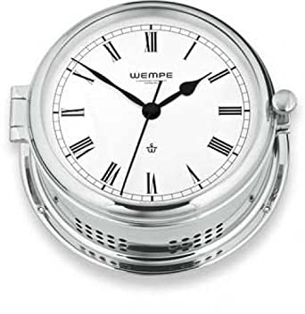 Quarz-Glasenuhr Admiral II Messing verchromt